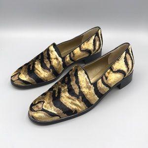 Yves Saint Laurent Velvet Loafers